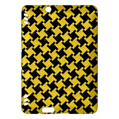 Houndstooth2 Black Marble & Yellow Colored Pencil Kindle Fire Hdx Hardshell Case
