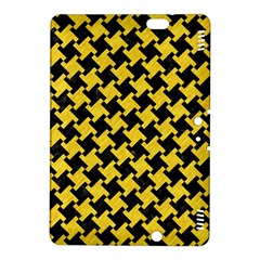 Houndstooth2 Black Marble & Yellow Colored Pencil Kindle Fire Hdx 8 9  Hardshell Case