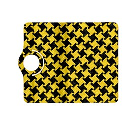 Houndstooth2 Black Marble & Yellow Colored Pencil Kindle Fire Hdx 8 9  Flip 360 Case