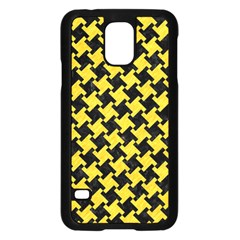Houndstooth2 Black Marble & Yellow Colored Pencil Samsung Galaxy S5 Case (black)