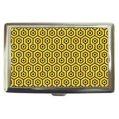 Hexagon1 Black Marble & Yellow Colored Pencil Cigarette Money Cases