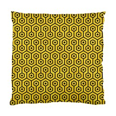 Hexagon1 Black Marble & Yellow Colored Pencil Standard Cushion Case (two Sides)
