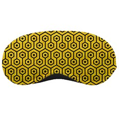 Hexagon1 Black Marble & Yellow Colored Pencil Sleeping Masks