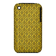 Hexagon1 Black Marble & Yellow Colored Pencil Iphone 3s/3gs