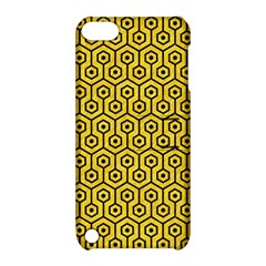 Hexagon1 Black Marble & Yellow Colored Pencil Apple Ipod Touch 5 Hardshell Case With Stand