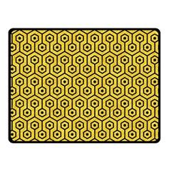 Hexagon1 Black Marble & Yellow Colored Pencil Double Sided Fleece Blanket (small)