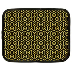 Hexagon1 Black Marble & Yellow Colored Pencil (r) Netbook Case (xxl)