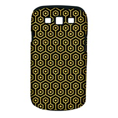 Hexagon1 Black Marble & Yellow Colored Pencil (r) Samsung Galaxy S Iii Classic Hardshell Case (pc+silicone)