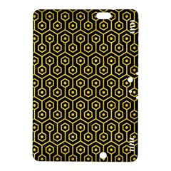 Hexagon1 Black Marble & Yellow Colored Pencil (r) Kindle Fire Hdx 8 9  Hardshell Case