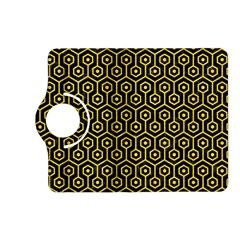 Hexagon1 Black Marble & Yellow Colored Pencil (r) Kindle Fire Hd (2013) Flip 360 Case