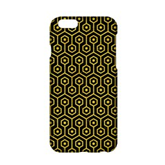 Hexagon1 Black Marble & Yellow Colored Pencil (r) Apple Iphone 6/6s Hardshell Case