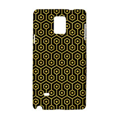Hexagon1 Black Marble & Yellow Colored Pencil (r) Samsung Galaxy Note 4 Hardshell Case
