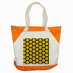 Hexagon2 Black Marble & Yellow Colored Pencil Accent Tote Bag