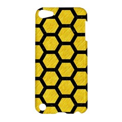 Hexagon2 Black Marble & Yellow Colored Pencil Apple Ipod Touch 5 Hardshell Case
