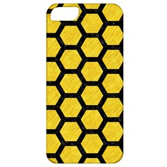 Hexagon2 Black Marble & Yellow Colored Pencil Apple Iphone 5 Classic Hardshell Case