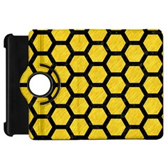 Hexagon2 Black Marble & Yellow Colored Pencil Kindle Fire Hd 7