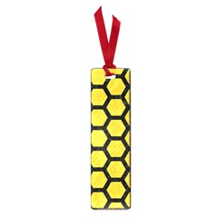 Hexagon2 Black Marble & Yellow Colored Pencil Small Book Marks