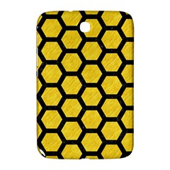 Hexagon2 Black Marble & Yellow Colored Pencil Samsung Galaxy Note 8 0 N5100 Hardshell Case