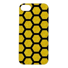 Hexagon2 Black Marble & Yellow Colored Pencil Apple Iphone 5s/ Se Hardshell Case