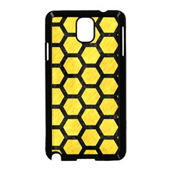 Hexagon2 Black Marble & Yellow Colored Pencil Samsung Galaxy Note 3 Neo Hardshell Case (black)