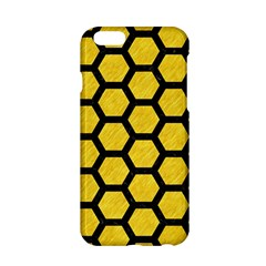 Hexagon2 Black Marble & Yellow Colored Pencil Apple Iphone 6/6s Hardshell Case
