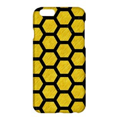 Hexagon2 Black Marble & Yellow Colored Pencil Apple Iphone 6 Plus/6s Plus Hardshell Case