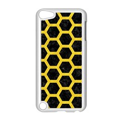 Hexagon2 Black Marble & Yellow Colored Pencil (r) Apple Ipod Touch 5 Case (white)