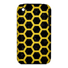 Hexagon2 Black Marble & Yellow Colored Pencil (r) Iphone 3s/3gs
