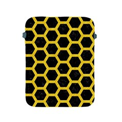 Hexagon2 Black Marble & Yellow Colored Pencil (r) Apple Ipad 2/3/4 Protective Soft Cases