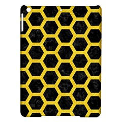 Hexagon2 Black Marble & Yellow Colored Pencil (r) Ipad Air Hardshell Cases