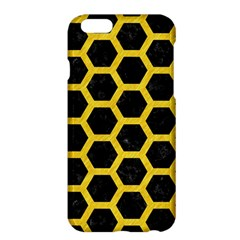 Hexagon2 Black Marble & Yellow Colored Pencil (r) Apple Iphone 6 Plus/6s Plus Hardshell Case