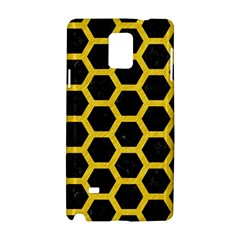 Hexagon2 Black Marble & Yellow Colored Pencil (r) Samsung Galaxy Note 4 Hardshell Case