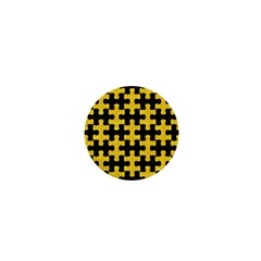 Puzzle1 Black Marble & Yellow Colored Pencil 1  Mini Buttons