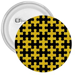 Puzzle1 Black Marble & Yellow Colored Pencil 3  Buttons