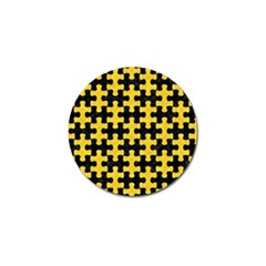 Puzzle1 Black Marble & Yellow Colored Pencil Golf Ball Marker