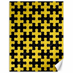 Puzzle1 Black Marble & Yellow Colored Pencil Canvas 18  X 24
