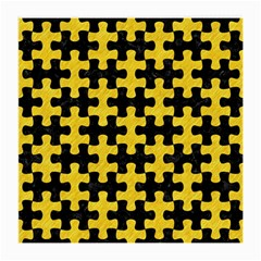Puzzle1 Black Marble & Yellow Colored Pencil Medium Glasses Cloth (2 Side)