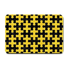Puzzle1 Black Marble & Yellow Colored Pencil Small Doormat