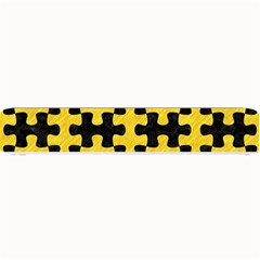 Puzzle1 Black Marble & Yellow Colored Pencil Small Bar Mats