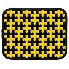 Puzzle1 Black Marble & Yellow Colored Pencil Netbook Case (xxl)