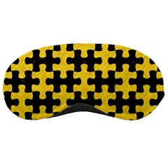Puzzle1 Black Marble & Yellow Colored Pencil Sleeping Masks