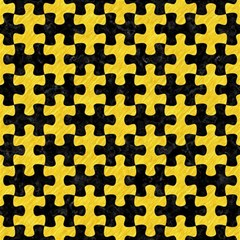 Puzzle1 Black Marble & Yellow Colored Pencil Magic Photo Cubes