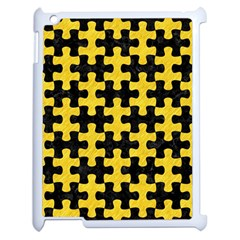 Puzzle1 Black Marble & Yellow Colored Pencil Apple Ipad 2 Case (white)