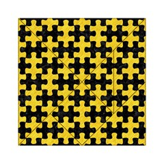 Puzzle1 Black Marble & Yellow Colored Pencil Acrylic Tangram Puzzle (6  X 6 )