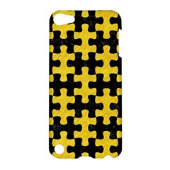 Puzzle1 Black Marble & Yellow Colored Pencil Apple Ipod Touch 5 Hardshell Case