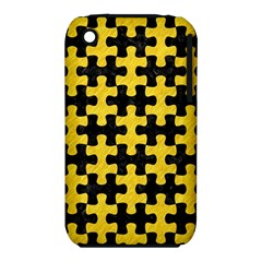 Puzzle1 Black Marble & Yellow Colored Pencil Iphone 3s/3gs