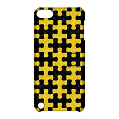 Puzzle1 Black Marble & Yellow Colored Pencil Apple Ipod Touch 5 Hardshell Case With Stand
