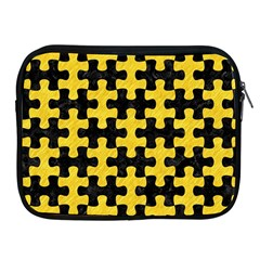 Puzzle1 Black Marble & Yellow Colored Pencil Apple Ipad 2/3/4 Zipper Cases