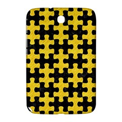 Puzzle1 Black Marble & Yellow Colored Pencil Samsung Galaxy Note 8 0 N5100 Hardshell Case