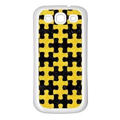 Puzzle1 Black Marble & Yellow Colored Pencil Samsung Galaxy S3 Back Case (white)